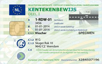nieuwe kentekenbewijs pas