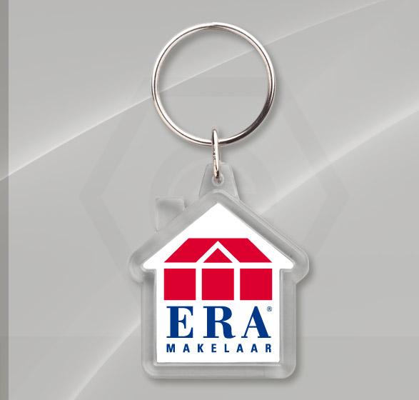 Sleutelhanger huis van kunststof met logo | Europlan